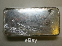 100 Oz Troy Silver Bar Monnaie Royale Canadienne Rcm 999+ En Argent Fin Vintage Bar