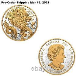 16.15oz 2021 Triumphant Dragon Pure Silver Coin Pré-commande