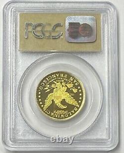 1857/0 $10 49er Cavalier Pcgs Deep Cameo Proof Ss Amérique Centrale Épave Or