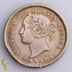 1858 Canada 10 Cents Pièce D'argent En Xf, Km# 3