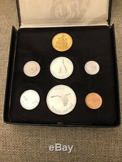 1867/1967 Centennial Gold Monnaie Royale Canadienne Monnaie Avec Boîte & Gold Coin