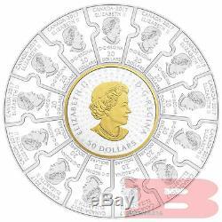 1867-2017 Puzzle Coin Canada150 Confédération 310 $ 1/2-kilo Puresilver Preuve