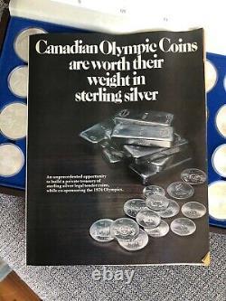 1976 Jeux Olympiques De Montréal En Argent Sterling Ensemble De 28 Pièces