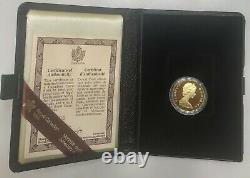 1979 Feuille D'érable Canadienne/qe II 100 $ 22 Carats 1/2 Once Pièce D'épreuve D'or Au Cas Où