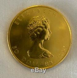 1981 Canada Feuille D'érable D'or Elizabeth II 1 Oz Gold Coin 50,999 $
