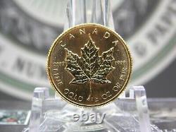 1982 10 $ 1/4 Oz D'or Feuille D'érable Canadienne. 9999 Pièce De La Côte Est Et Objets De Collection