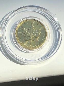 1982, Le Canada Maple Leaf 1/10 Onces. 9999 Or Fin Wow En Airtite