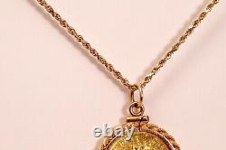 1985 $ 10,999 Pendentif En Or Pièce D'érable Canadienne Collier 18 Corde