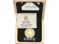 1989, Le Canada Maple Leaf 10 Anniv 50 $ Fifty Dollar Proof Or 1 Oz Coin Box Coa