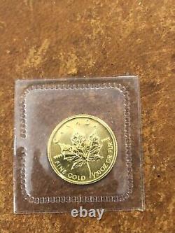 1998 Mrc Scellé Canada 1/20 Oz 9999 Feuille D'érable D'or Menthe Rare