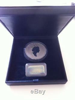 1998 Uncirculated Monnaie Royale Canadienne 50 $ Argent 10 Oz 10e Anniversaire Coin