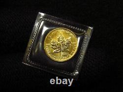 1999 1/10 Oz Feuille D'érable D'or Du Canada Menthe Scellée