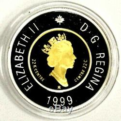 1999 Canada 22k Gold 0,917 $ 2 Dollar Coin Nunavut Preuve Tambour 279 $ + Scrap