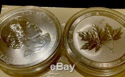 2 2018 Canada 10 Oz Silver Maple Leaf. 9999 Capsule Original Et Toujours Wrap
