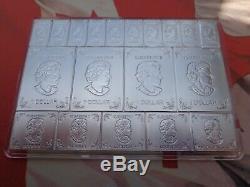 2 Oz. 2018 Monnaie Royale Canadienne Barre D'art Split-mesure. 9999 Argent Ultra Fine