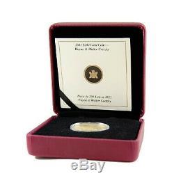 200 $ 1 2011/2 Oz Gold Coin Wayne Et Walter Gretzky Monnaie Royale Canadienne Canada