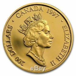 200 $ 1997 Haida Masque Canada Or Preuve Complete Set Box + Coa