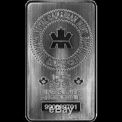 200 Oz 20 X 10 Oz Silver Bar Monnaie Royale Canadienne Mrc. 9999 Ag