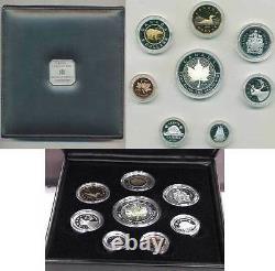 2001 Premium Eight Coin Proof Set Avec. 9999 Hologramme Argent Fin Sml (10514)