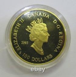 2003 Monnaie Royale Canadienne La Découverte De La Pièce D'or Marquise De Blé 100e Anniversaire