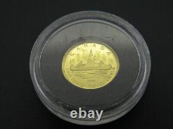 2005 1/25 Oz Cinquante Cents Pièce D'or Voyageur Proof 9999 Fine Au 50¢ Mrc Canada