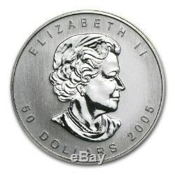 2005 Canada 1 Oz 9995 Palladium Maple Leaf 50 $ Coin Ongecirculeerd Première Année Htf