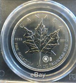 2005 Canada Palladium $ 50 1 Oz Coin Feuille D'érable Test B Pcgs Ms-privy 67 # 209, Rare