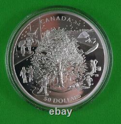 2006 5 Oz Pièce D'argent De La Monnaie Royale Canadienne Quatre Saisons