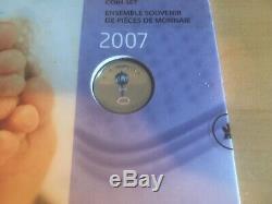 2007 Bébé Pièce Commémorative Ensemble Avec Couleur 25 Cents Monnaie Royale Canadienne