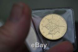 2008 Canada Feuille D'érable D'or Elizabeth II 1 Oz Pièce D'or $ 50,9999 Fin Brillant