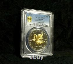 2008 Canada Maple Leaf Pcgs Ms68 Plaqué Or 20e Anniversaire 1 Oz Dorure D'argent