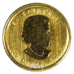 2009 1 $ Canada 1/20 Onces. 9999 Feuille D'érable En Or Fin Pièce Scellé Opg Lot # Z855