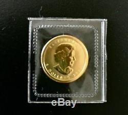 2009 Canada 1/10 Oz $ 5 Or Maple Leaf Coin. 9999 24k Or Fin, Menthe Scellé