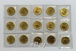 2011 Canada 1/10 Oz $ 5 Or Maple Leaf Coin. 9999 Or Fin, Bu Sealed
