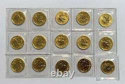 2011 Canada 1/10e Oz 5 $ Pièce De Monnaie Feuille D'érable D'or. 9999 Or Fin, Bu Scellé