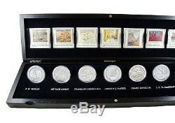 2012-2013 20 $ Groupe Des Sept 7 Coin En Argent Fin Paramétrés En Cas Monnaie Royale Canadienne
