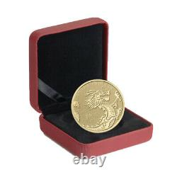 2012 Année Du Dragon 1/10 Once Pure Gold Coin