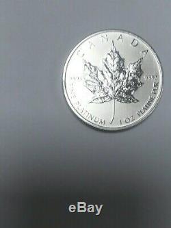 2012 Canada 50 $ Un Maple Leaf Platinum Ounce Gem Bu