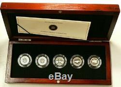 2012 Canada Adieu À La Penny 5 Argent Coin Set Avec Box & # 5920 Coa