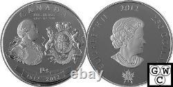 2012 Kilo'george III Guerre De 1812 Médaille' $250 Pièce D'argent. 9999 Amende (13015)