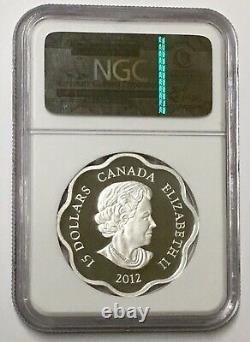 2012'year Du Dragon '(de Shaped Pétoncle) 15 $ En Argent. 9999 Fin Ngc 70 Uc Pf