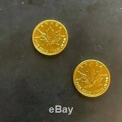 2013 1/10 Onces. Érable Feuille D'or Bullion Coin