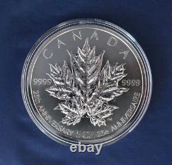 2013 Canada 5oz Silver Proof $50 Pièce Feuilles D'érable Au Cas Où Avec Coa