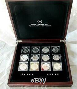2013 De La Monnaie Royale Canadienne Célèbre Du Monde 9999 Silver Coins 1 Once. X 15