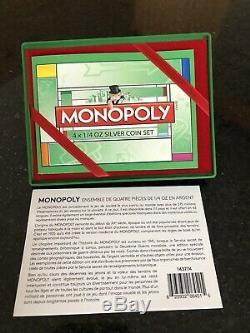 2013 Rcm Niue Nouvelle-zélande Mint 4 Silver Coin Monopoly Ensemble D'affichage Maison Monopoly