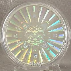 2014 $ 20 Interconnexions Air Thunderbird 1 Oz Argent Pur Hologram Coin