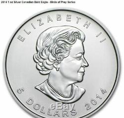 2014-2015 Canada Oiseaux De Proie Quatre 1 Oz. 999 Argent Coin Set Ecran Box