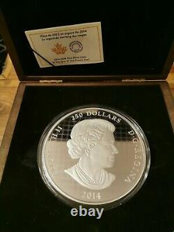 2014 250 $ Dollar Canadien'in The Eyes Of The Snowy Owl'- Pure Silver Kilo Coin