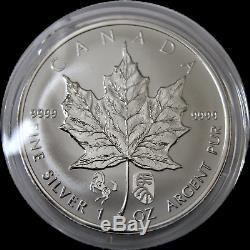 2014 5 $ Argent Maple Leaf 1 Oz Lunaire Chinoise Double Cheval Privé