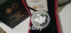 2014 50 $ Feuilles D'érable 5 Oz En Argent Fin High Relief Proof Coin Mintage 2500